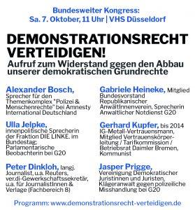 Bundesweiter Grundrechte-Kongress am 7.10.